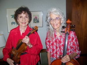 Helen Brush, Violin and Charlotte Farney, Cello